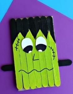 Popsicle Stick Frankenstein Craft