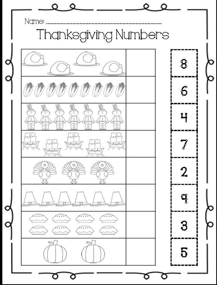 Thanksgiving counting worksheet  1