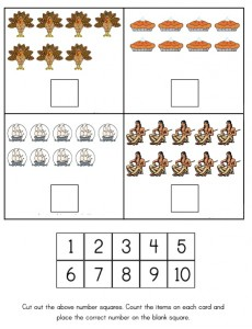 Thanksgiving counting worksheet  2