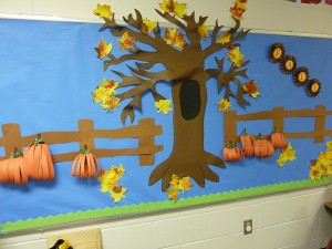 autumn bulletin board idea