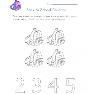 back to school counting worksheet 2