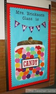 candy door decoration craft