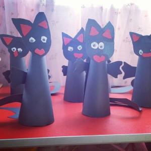 cone shaped cat craft