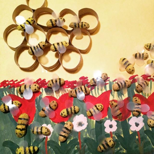 free bee craft idea (6)