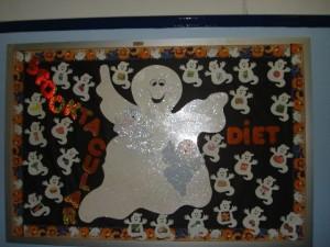 ghost bulletin board idea