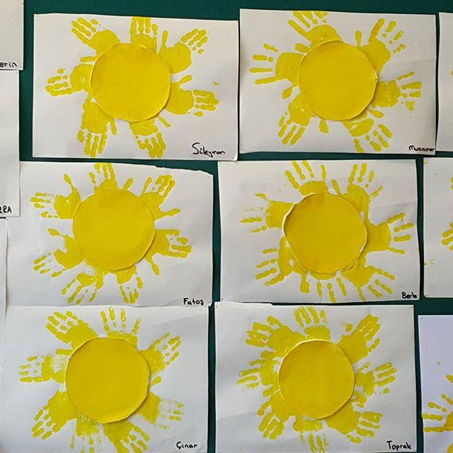 handprint sun craft idea