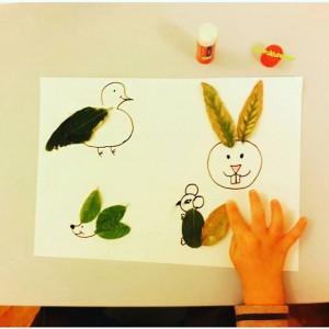 leaf animals craft
