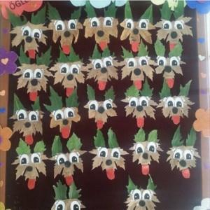 leaf dog craft