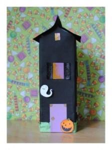 milk box haunted house craft