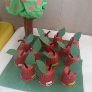 paper cup apple craft