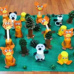 paper cup giraffe craft