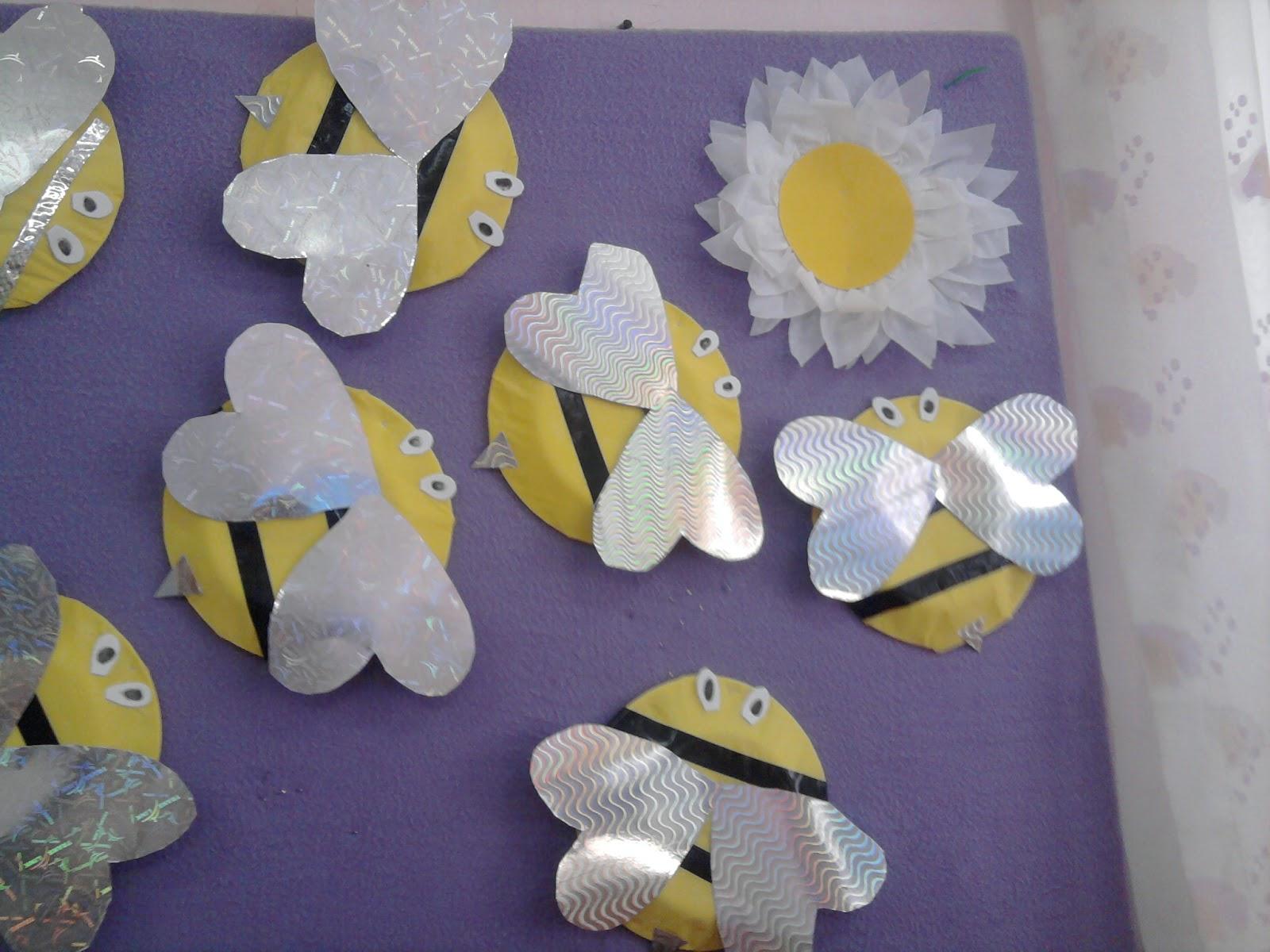 paper plate bee craft idea