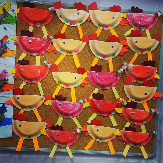 paper plate chicken craft
