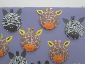 paper plate giraffe craft idea