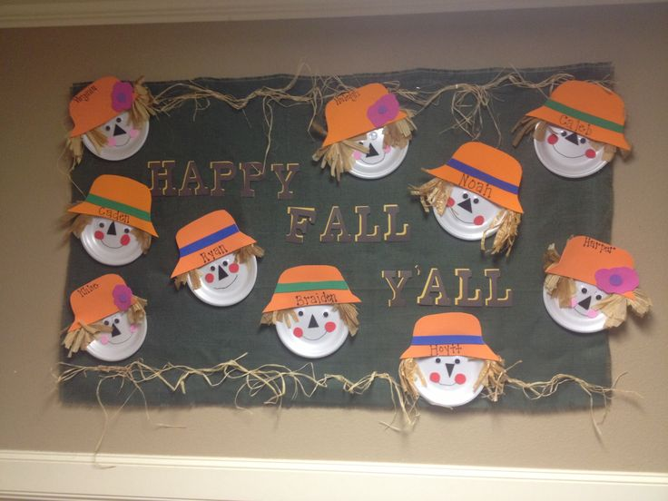 paper plate scarecrow bulletin board