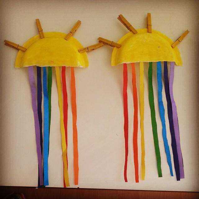 paper plate sun craft idea