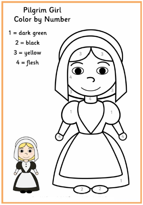 pilgrim_girl_color_by_number