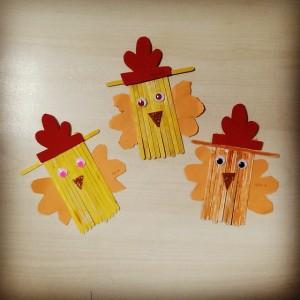 popsicle stick hen