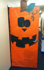 pumpkin classroom door