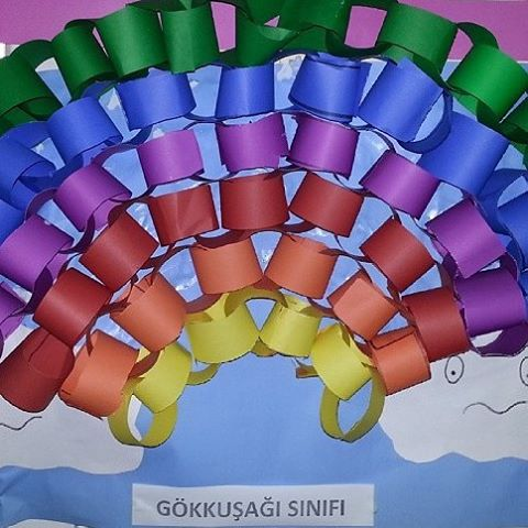 rainbow craft idea for kids