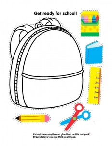school bag cut and paste worksheet