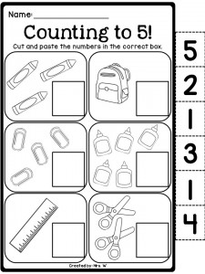school number count worksheet for kids