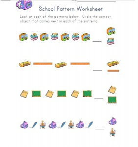 school pattern worksheet