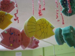sponge fish craft