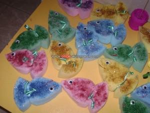 sponge fish craft idea