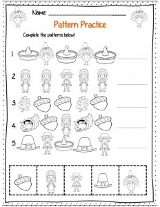 thanksgiving day pattern worksheet (1)