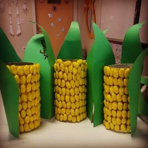 toilet paper roll corn craft