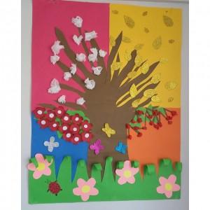 4 seasons craft idea for kids (4)