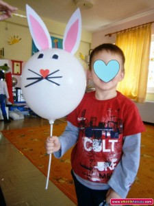 balloon bunny craft