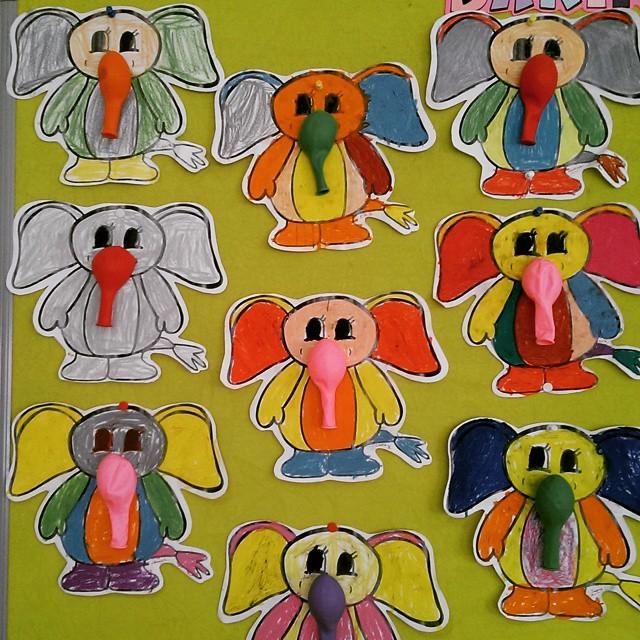 balloon elephant craft idea