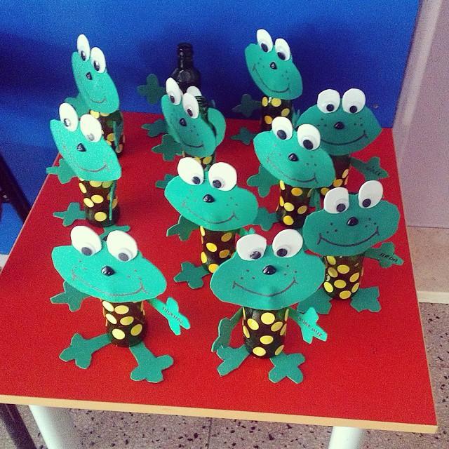 bottle frog craft idea for kids,