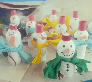 bottle snowman craft