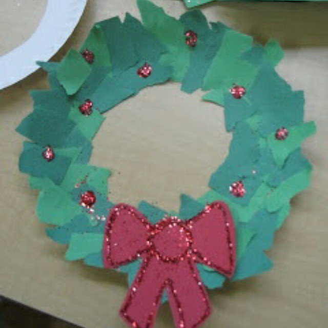 christmas wreath craft idea