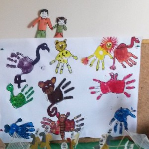 handprint animals craft