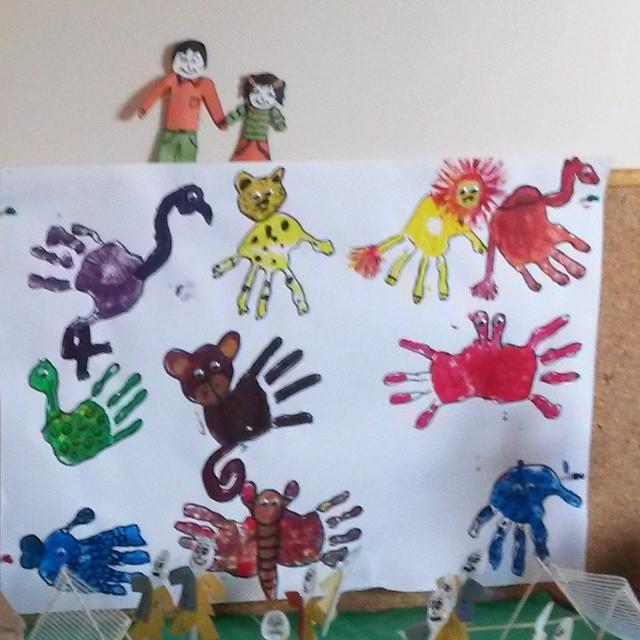 handprint animals craft