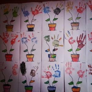 handprint flower craft idea
