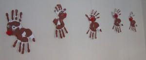 handprint reindeer craft