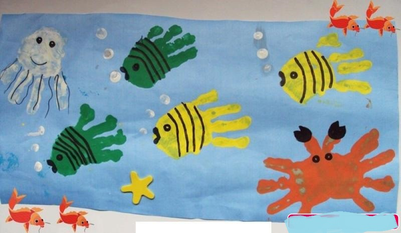 handprint sea animals craft