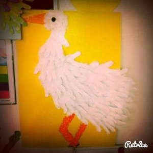 handprint stork craft