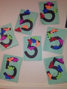 number 5 craft idea