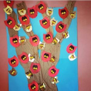owl bulletin board idea for kids