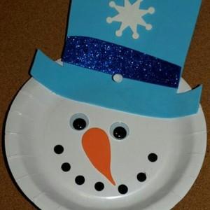paper plate snowman craft