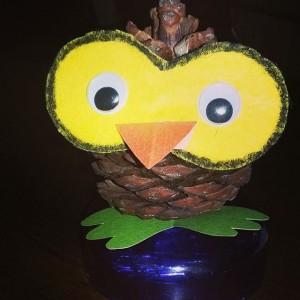 pinecone owl craft (1)