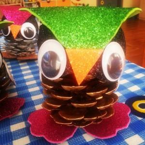 pinecone owl craft (3)