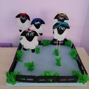 sheep puppet craft