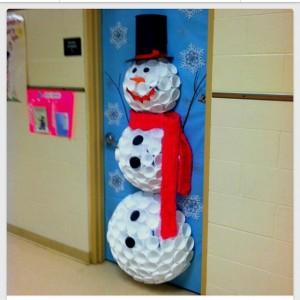 snowman classroom door decoration idea